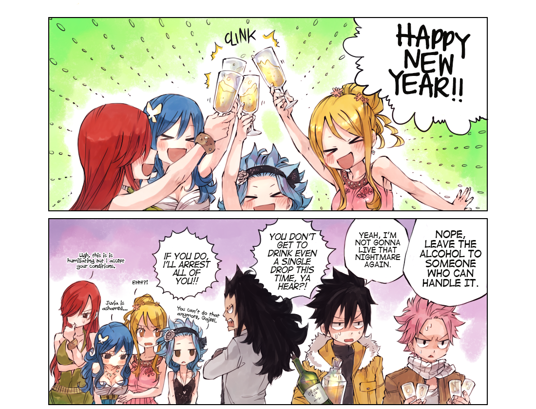 Happy New Year from Fairy Tail | Daily Anime Art
