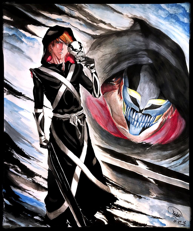 Hollowed Reaper Ichigo Kurosaki by Maithagor