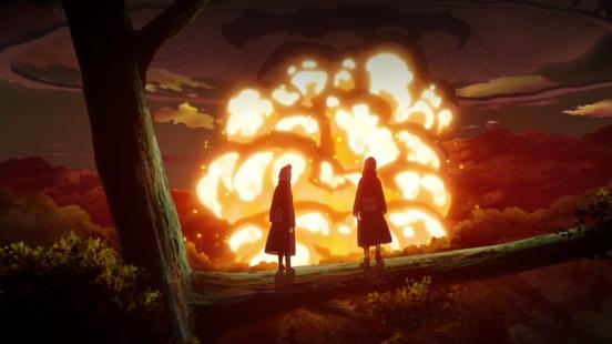 Konan and Yahiko on Nagato's death