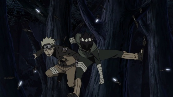 Lee helps Naruto