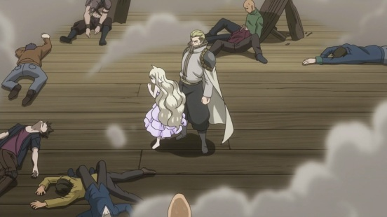 Mavis and Precht defeat enemies