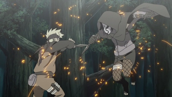 Naruto and ANBU clash