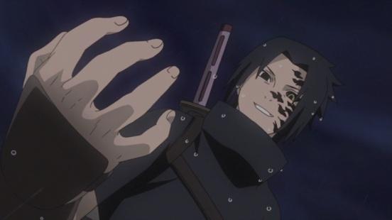 Orochimaru's curse on Sasuke