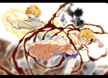 Fairy Tail 473 Laxus attack Wahl Yuri by jazminmtz