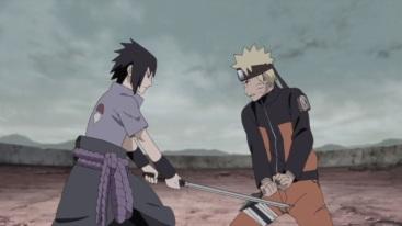 Naruto and Sasuke fight
