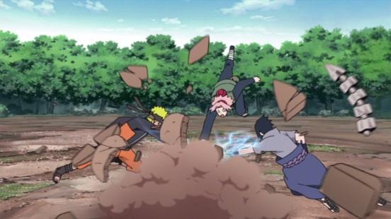 Naruto Sasuke Sakura destroy Sasori's body