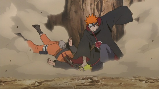 Pain attacks Naruto