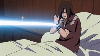 Sasuke attacks Orochimaru