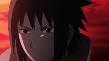 Sasuke's face