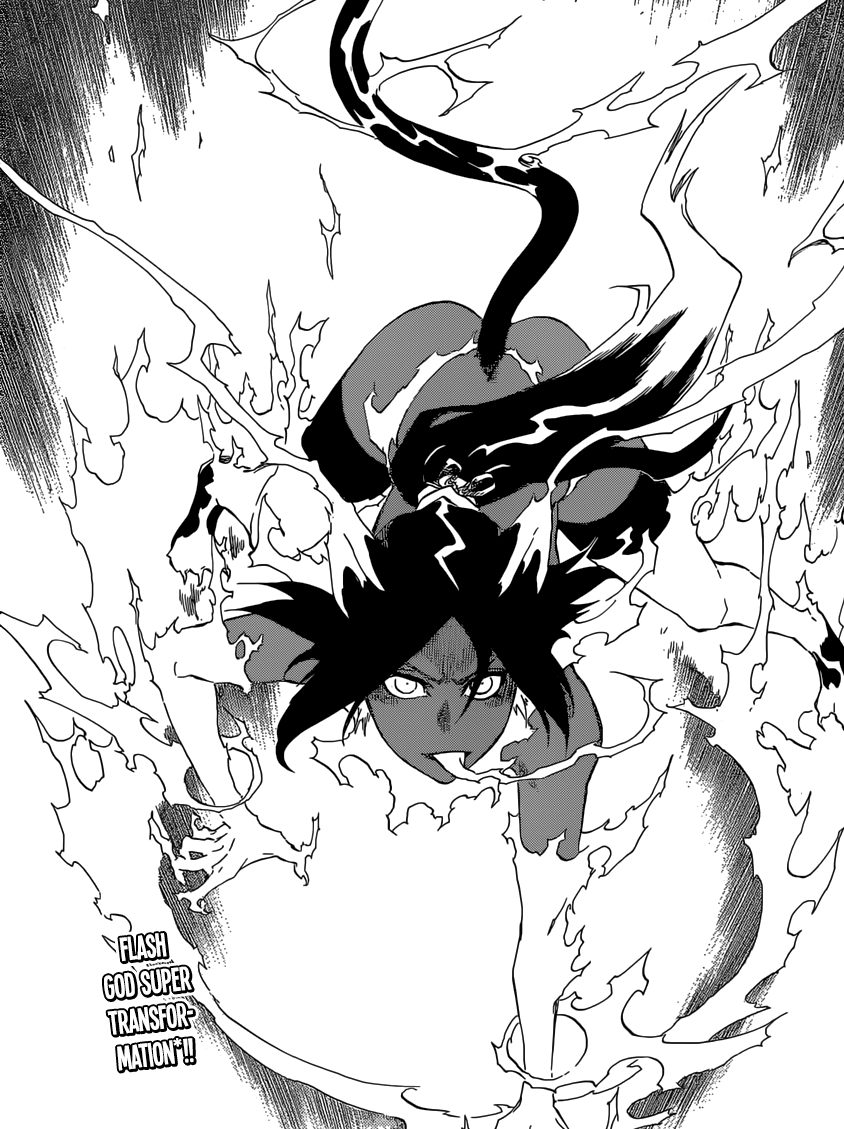 Yoruichi's New Form! Flash God Super Transformation – Bleach 662 ...