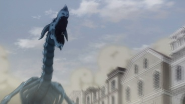 Yuri turns into a Blue Skull Dragon