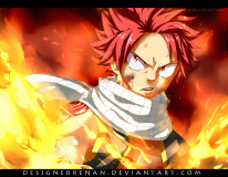 Fairy Tail 477 Natsu appears by designerrenan