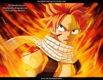 Fairy Tail 477 Natsu's fire by maxibostero