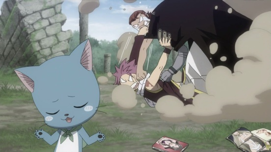 Gildarts and Natsu fight