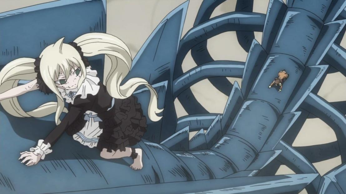Mavis and Zera on Blue Skull