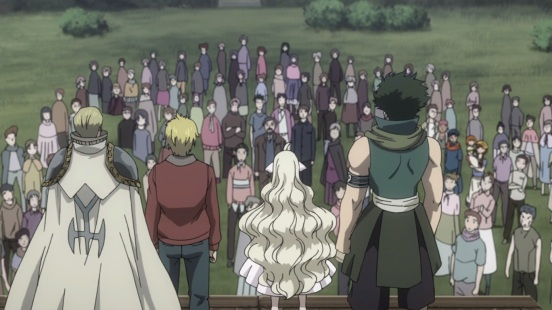 Mavis tells everyone about Fairy Tail
