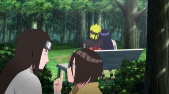 Naruto and Hinata being watched