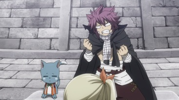 Natsu angry at Fairy Tail disband