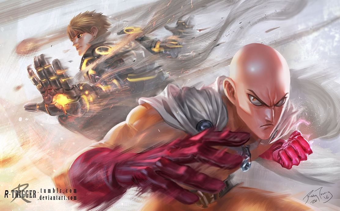 Saitama and Genos by R-Trigger