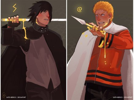 Golden Duo – Naruto and Sasuke