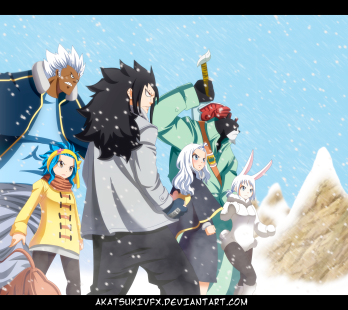 Fairy Tail 480 Gajeel and others by Akatsukivfx