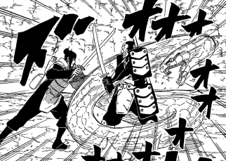 Orochimaru attacks enemy