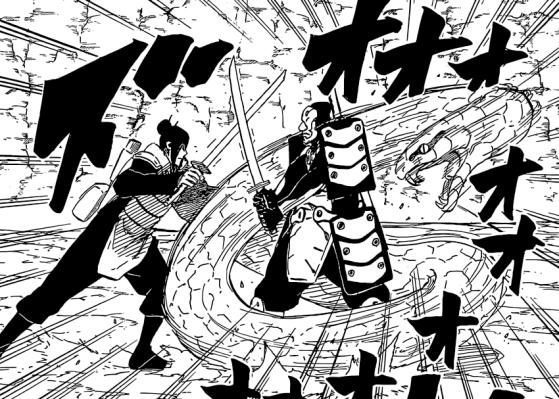 Orochimaru attacks enemy