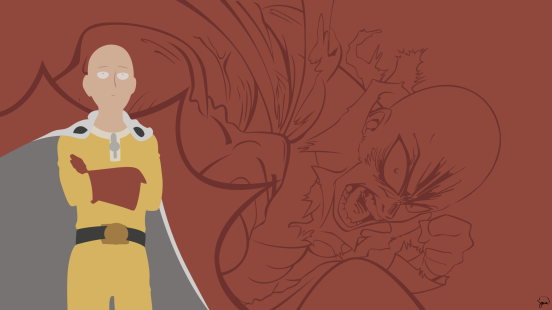 Saitama One Punch Man Minimalist Wallpaper by greenmapple17