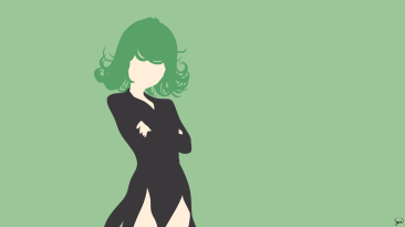 Tatsumaki One Punch Man Minimalist Wallpaper by greenmapple17