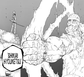 Toshiro freezes Gerard Shikai Hyouketsu