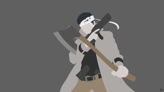 Zombieman One Punch Man Minimalist Wallpaper by greenmapple17