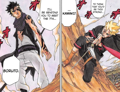 Boruto and Kawaki fight