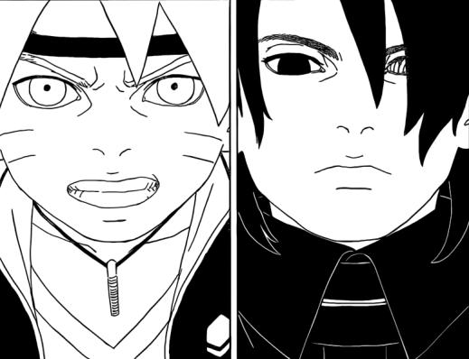 Boruto and Sasuke
