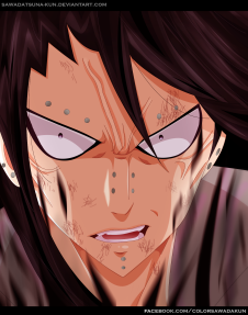 Fairy Tail 485 Gajeel by sawadatsuna-kun