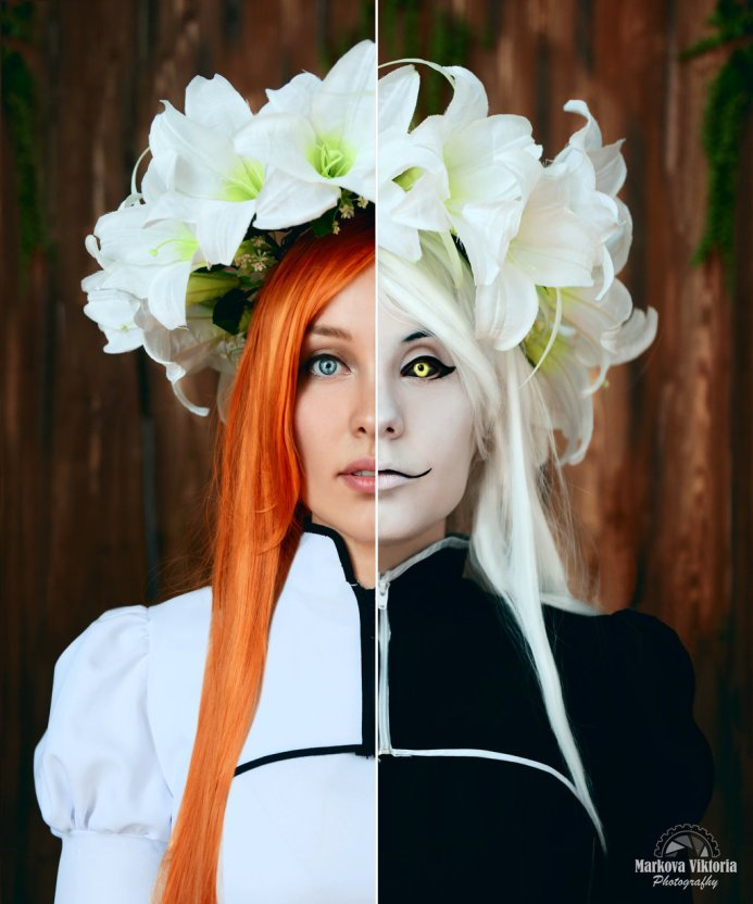 Hollow Orihime and Inoue Bleach Cosplay by Izefant