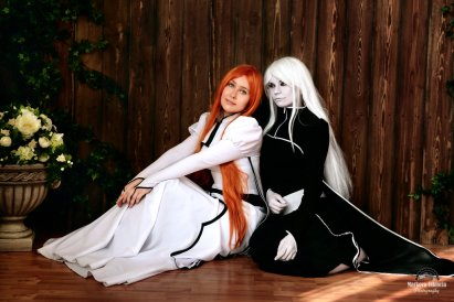 Inoue and Hollow Orichime Cosplay by Izefant