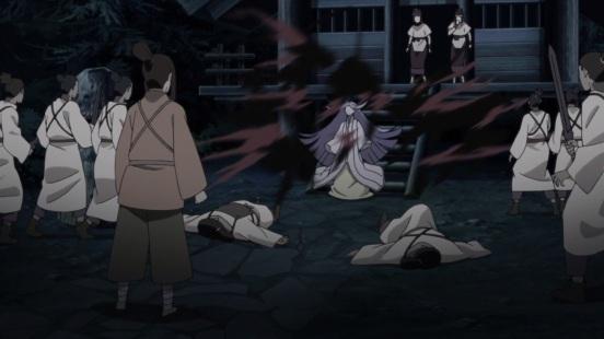 Kaguya uses her powers