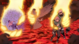 Naruto saves others