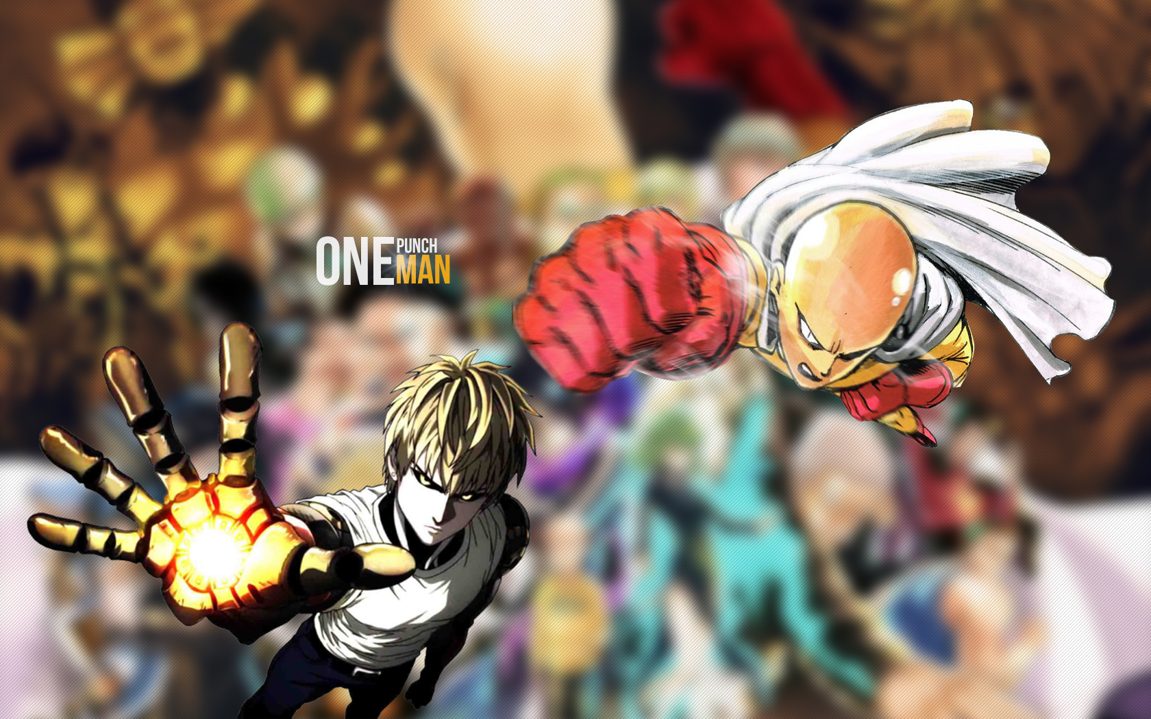 one punch man wallpaper genos saitama by dommy daily