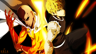 Saitama Genos One Punch Man Wallpaper by kuronekoisawesum