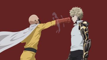 Saitama Genos One Punch Man Wallpaper by uzumakiash