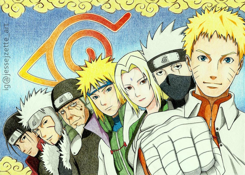 7 Generation Hokage Hashirama Tobirama Hiruzen Minato Tsunade Kakashi Naruto by Jessejzette