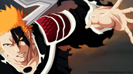 Bleach 676 Ichigo attacks by etausioses