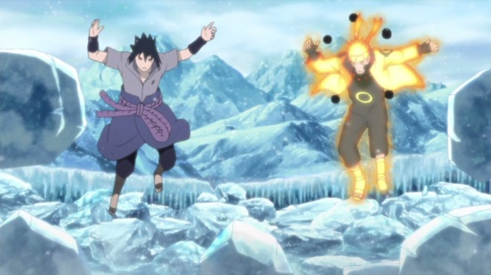 Natsu and Sasuke in ice dimension