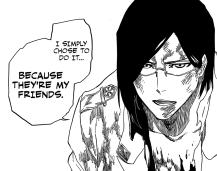 Uryu is Ichigo's friend