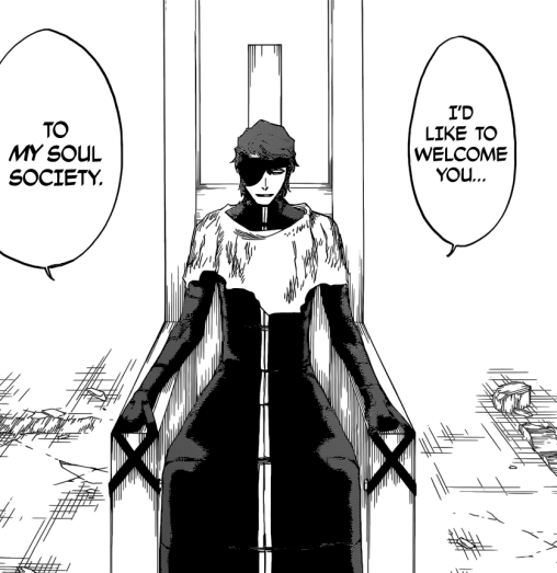 Aizen talks to Yhwach