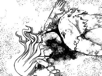 Fairy Tail 493 Mirajane bleeds