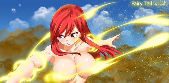 Fairy Tail 495 Erza Transformation by sharknex