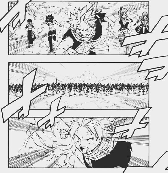 Fairy Tail 495 Natsu attacks