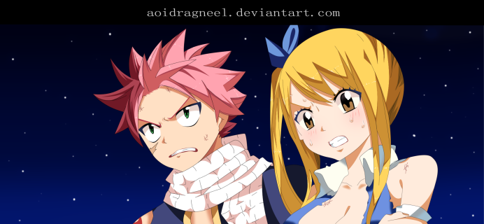 Fairy Tail 495 Natsu Lucy by aoidragneel